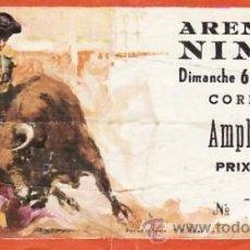 Tauromaquia: ENTRADA PLAZA DE TOROS ARENES DE NIMES FRANCIA - 6 JUNIO 1976 - ET3157. Lote 36920401