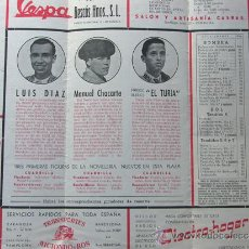 Tauromaquia: PROGRAMA TOROS ZARAGOZA 1954 / LUIS DIAZ - MANUEL CHACARTE - FCO.BARRIOS EL TURIA / RICARDO ARELLANO. Lote 37158067