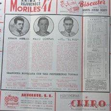 Tauromaquia: PROGRAMA TOROS ZARAGOZA 1956 / FERMIN MURILLO - PACO CORPAS - JOSE RODRIGUEZ EL PIO / MARQ.DE DOMECQ. Lote 37158491