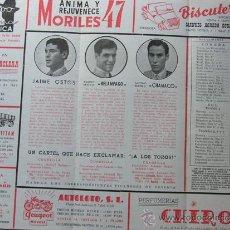 Tauromaquia: PROGRAMA TOROS ZARAGOZA 1956 / JAIME OSTOS - RELAMPAGO - CHAMACO / MARTINEZ ELIZONDO. Lote 37158568
