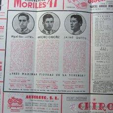 Tauromaquia: PROGRAMA TOROS ZARAGOZA 1956 / MIGUEL BAEZ LITRI - ANTONIO ORDOÑEZ - JAIME OSTOS / URQUIJO DE FEDER. Lote 37158602
