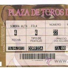 Tauromaquia: ENTRADA PLAZA DE TOROS DE SEVILLA 2013. Lote 37266357
