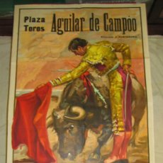 Tauromaquia: CARTEL DE TOROS, PLAZA AGUILAR DE CAMPÓO. CURRO BEDOYA, CURRO VAZQUEZ, ROBERTO DOMINGUEZ. AÑO 1968.. Lote 37892235