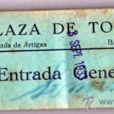 Tauromaquia: PLAZA DE TOROS,CATALUÑA,TALONARIO CON 100 ENTRADAS AÑO 1933,TAUROMAQUIA,TORO Y TORERO,FIESTA. Lote 37954879