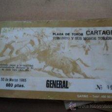 Tauromaquia: PLAZA DE TOROS DE CARTAGENA. 1985. Lote 37988093