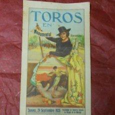 Tauromaquia: 1925 CARTEL DE TOROS DE BARCELONA - FESTIVIDAD DE LA MERCED - NACIONAL II MARQUEZ - POR RUANO LLOPIS. Lote 38454293