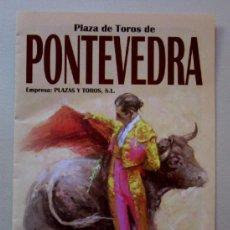 Tauromaquia: PLAZA DE TOROS DE PONTEVEDRA - DÍPTICO FERIA AGOSTO 2013. Lote 38491198