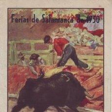 Tauromaquia: FERIAS DE SALAMANCA DE 1950 (PUBLICIDAD DE CORRIDAS DE TOROS).. Lote 38938020