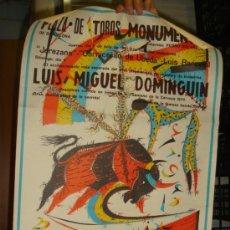 Tauromaquia: TREMENDO CARTEL DE TOROS,DIBUJADO POR RAFAEL ALBERTI,BARCELONA,1971,LUIS MIGUEL DOMINGUÍN. Lote 78533015