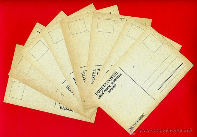 Tauromaquia: LOTE SERIE 8 POSTALES TOROS, TOREROS, CARICATURAS, L. SANZ, ANTIGUAS, , ORIGINAL - Foto 2 - 39333303