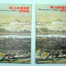 Tauromachie: 2 PROGRAMAS FIESTAS SAN ISIDRO MADRID 1968 CORRIDAS DE TOROS. Lote 39823864