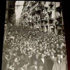 Tauromaquia: ANTIGUA FOTO POSTAL ENCIERROS DE SAN FERMIN - PAMPLONA - AÑO 1926 - TOROS - NO CIRCULADA - ESCRITA.. Lote 38244016