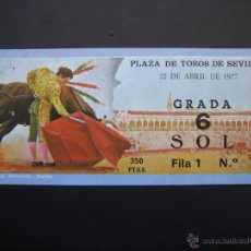 Tauromaquia: C ENTRADA PLAZA DE TOROS SEVILLA 1977. Lote 40394590