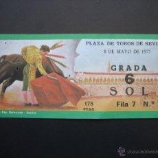 Tauromaquia: C ENTRADA PLAZA DE TOROS SEVILLA 1977. Lote 40394592