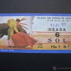 Tauromaquia: C ENTRADA PLAZA DE TOROS SEVILLA 1977. Lote 40394610