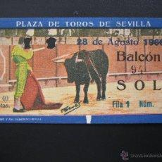 Tauromaquia: C ENTRADA PLAZA DE TOROS SEVILLA 1966. Lote 40463712