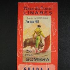 Tauromaquia: C ENTRADA PLAZA DE TOROS LINARES 1963. Lote 40481259