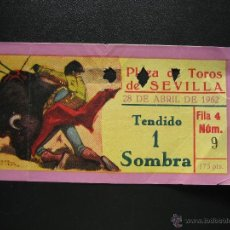 Tauromaquia: C ENTRADA PLAZA DE TOROS SEVILLA 1962. Lote 40481380