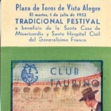 Tauromaquia: ENTRADA PLAZA DE TOROS BILBAO 1952 . Lote 40612309