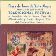 Tauromaquia: ENTRADA PLAZA DE TOROS BILBAO 1952 . Lote 40612315