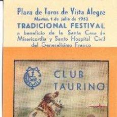 Tauromaquia: ENTRADA PLAZA DE TOROS BILBAO 1952 . Lote 40612351