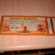 Tauromaquia: CURIOSA PAPELETA DE NAVIDAD DE 1959 EN FORMA DE ENTRADA A LA PLAZA DE TOROS DE LA CONDOMINA (MURCIA). Lote 103832308