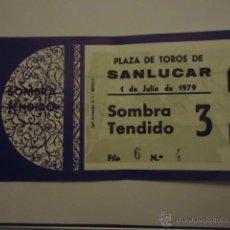 Tauromaquia: ENTRADA TOROS - PLAZA SANLUCAR 1979 SOMBRA TENDIDO . Lote 41376028