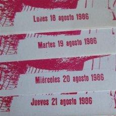 Tauromaquia: LOTE 7 FOLLETOS DE TOROS CLUB TAURINO – BILBAO AGOSTO 18 AL 24 - 1986 . Lote 41456098