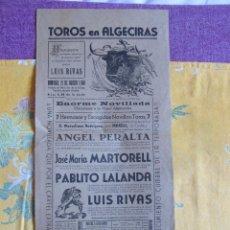 Tauromaquia: CARTEL DE PLAZA DE TOROS DE ALGECIRAS 1948. Lote 41481001