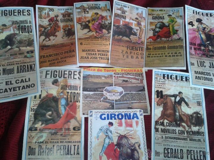 LOTE DE 10 ANTIGUOS FOLLETOS DE MANO CORRIDA DE TOROS (Coleccionismo - Tauromaquia)