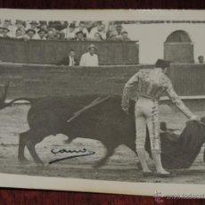 Tauromaquia: FOTOGRAFIA ORIGINAL DE MANOLETE, MANUEL RODRIGUEZ , TOROS , FOTO CANO, MIDE 11,8 X 8,8 CMS.. Lote 41632059