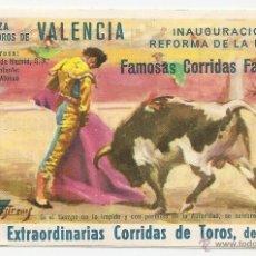 Tauromaquia: VALENCIA: PROGRAMA DE TOROS CORRIDAS FALLERAS DE 1968. Lote 41915202