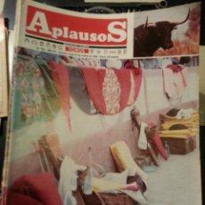 Tauromaquia: REVISTA TOROS - SEMANARIO TAURINO APLAUSOS - 1984 - N 369 - CAPOTES MULETAS ESTOQUES. Lote 42239478