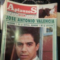 Tauromaquia: REVISTA TOROS - SEMANARIO TAURINO APLAUSOS - 1991 - N 711 - JOSE ANTONIO VALENCIA. Lote 42250168