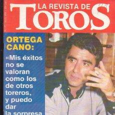 Tauromaquia: LA REVISTA DE TOROS Nº 57 , ORTEGA CANO. Lote 43079521