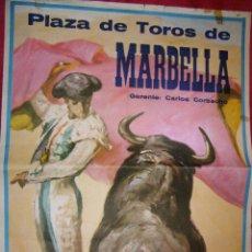 Tauromaquia: GRAN CARTEL - PLAZA DE TOROS DE MARBELLA 16 DE AGOSTO DE 1970 - PEPE L. ROMAN, R. TORRES - M. RODRIG. Lote 43112412