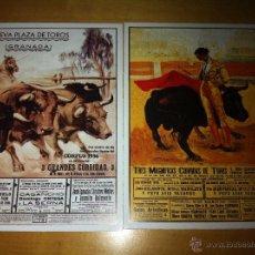 Tauromaquia: REPRODUCCION CARTELES ANTIGUOS TOROS - TAMAÑO POSTAL. Lote 43437332