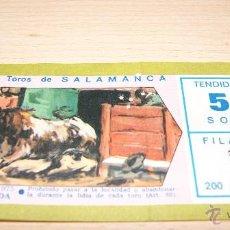 Tauromaquia: ENTRADA DE TOROS NOVILLADA PICADA 12 DE SEPTIEMBRE DE 1975 SALAMANCA. Lote 43441218