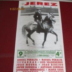 Tauromaquia: CARTEL. PLAZA DE JEREZ. ANGEL PERALTA, RAFAEL PERALTA, A. IGNACIO VARGAS, LUIS VALDENEBRO,...1993.. Lote 44002449