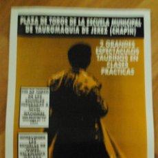 Tauromaquia: CARTEL PLAZA DE TOROS JEREZ CHAPIN, 1 NOVIEMBRE 1996, JULIAN MILETTO, CESAR HERNÁNDEZ, LEER. Lote 44468766