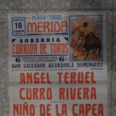 Tauromaquia: CARTEL DE TOROS - PLAZA DE TOROS MERIDA 1973 . Lote 81974456
