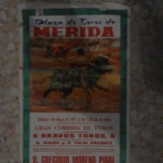 Tauromaquia: CARTEL DE TOROS - PLAZA DE TOROS MERIDA 1971. Lote 44778394
