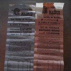 Tauromaquia: LOTE DE CARTELES TOROS MADRID 1970. Lote 44781052