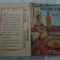 Tauromaquia: CARNET ABONO PLAZA TOROS SEVILLA TEMPORADA 1954 MAESTRANZA PUBLICIDAD LOLA FLORES GIRALDA, BRANDY . Lote 45119034