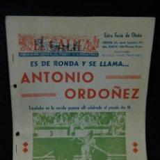 Tauromaquia: PUBLICACIÓN GRÁFICA TOROS Y LITERATURA EL CALIFA ANTONIO ORDOÑEZ CORRIDA GOYESCA FERIA DE OTOÑO 1973. Lote 45150025