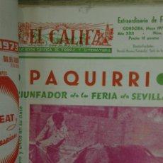 Tauromaquia: PAQUIRRI EL CALIFA REVISTA DE TOROS Y LITERATURA CÓRDOBA 1969 1973 7 NÚMEROS TOREROS. Lote 45150239