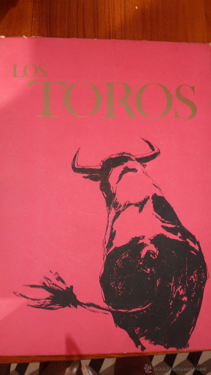 Tauromaquia: Los Toros . 8 láminas grabados tauromaquia . toreros . dibujos Serrabona . color lamina carpeta - Foto 3 - 45175403