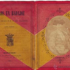Tauromaquia: BADAJOZ. CARNET ANUNCIADOR TOROS EN BADAJOZ 1883 (LEER). Lote 45229481