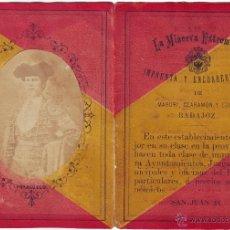 Tauromaquia: BADAJOZ. CARNET ANUNCIADOR TOROS EN BADAJOZ 1883 (LEER). Lote 45229565