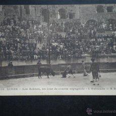 Tauromaquia: NIMES LA ESTOCADA - CORRIDA DE TOROS POSTAL ANTIGUA. Lote 45396253